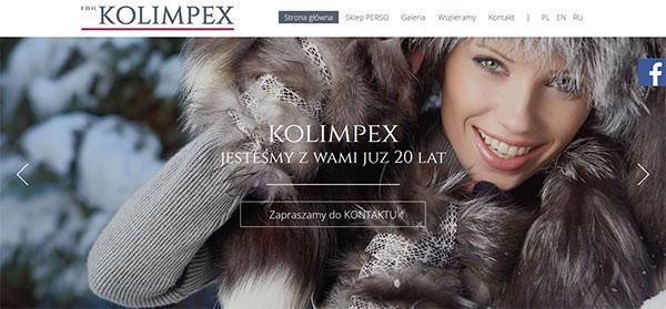 Realizacja - Kolimpex stronę internetowa przedstawiającą opis oraz ofertę firmy.